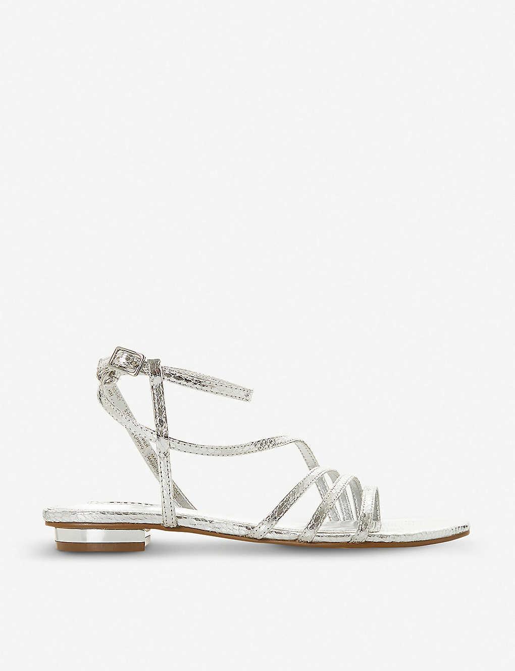 0fbee59f20d Nissey triple-strap metallic sandals - Silversynthetic ...