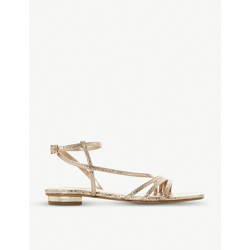 dfc95faad86 Nissey triple-strap metallic sandals