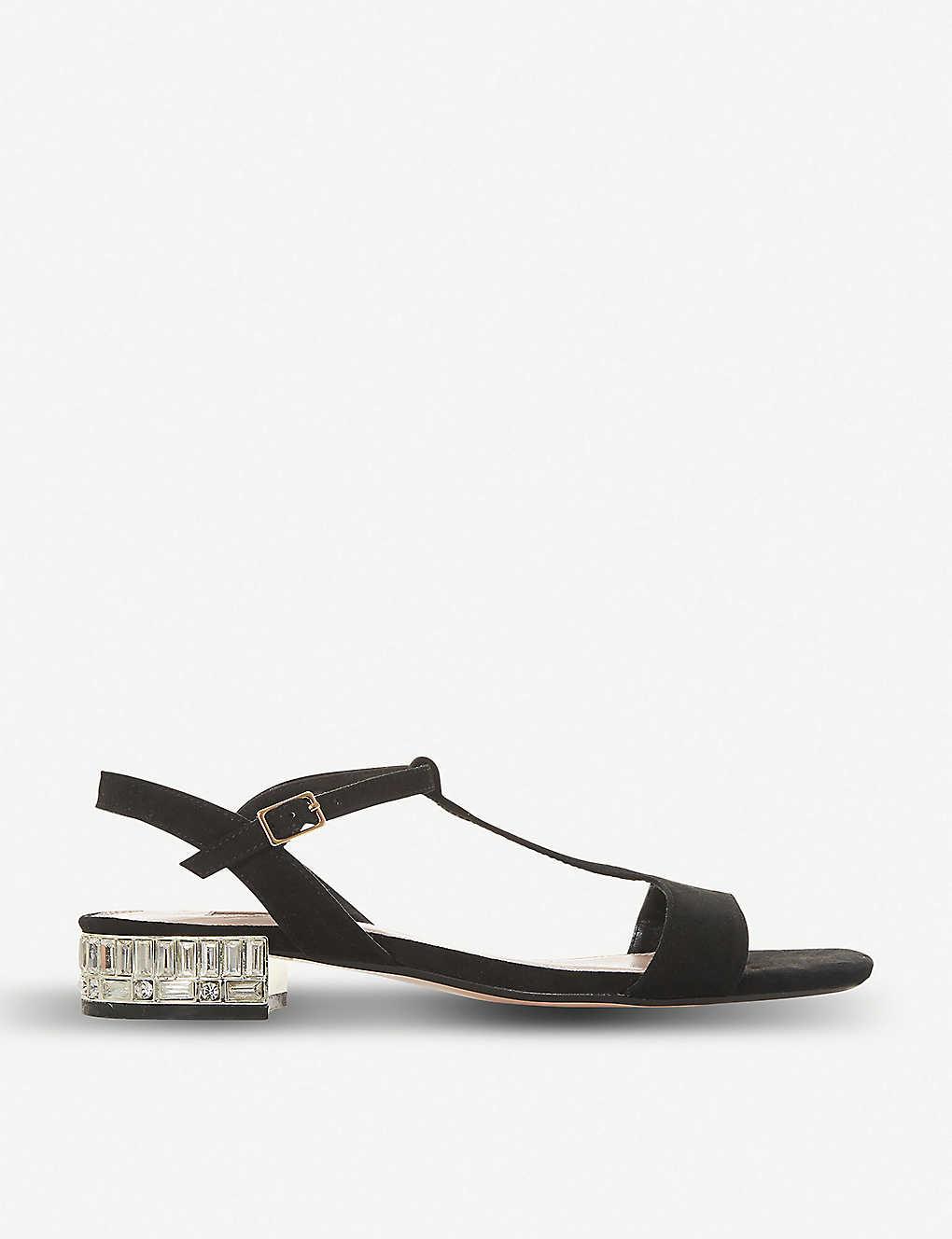 663b602a52 DUNE - Mascara embellished-heel suede sandals   Selfridges.com