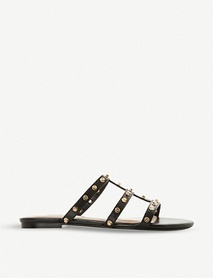 DUNE Nashvill stud embellished leather sandals