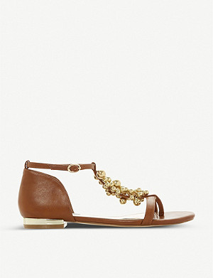 DUNE Hobart 2 faux-leather T-bar sandals