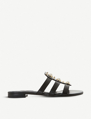 DUNE Nikole leather slip-on sandals