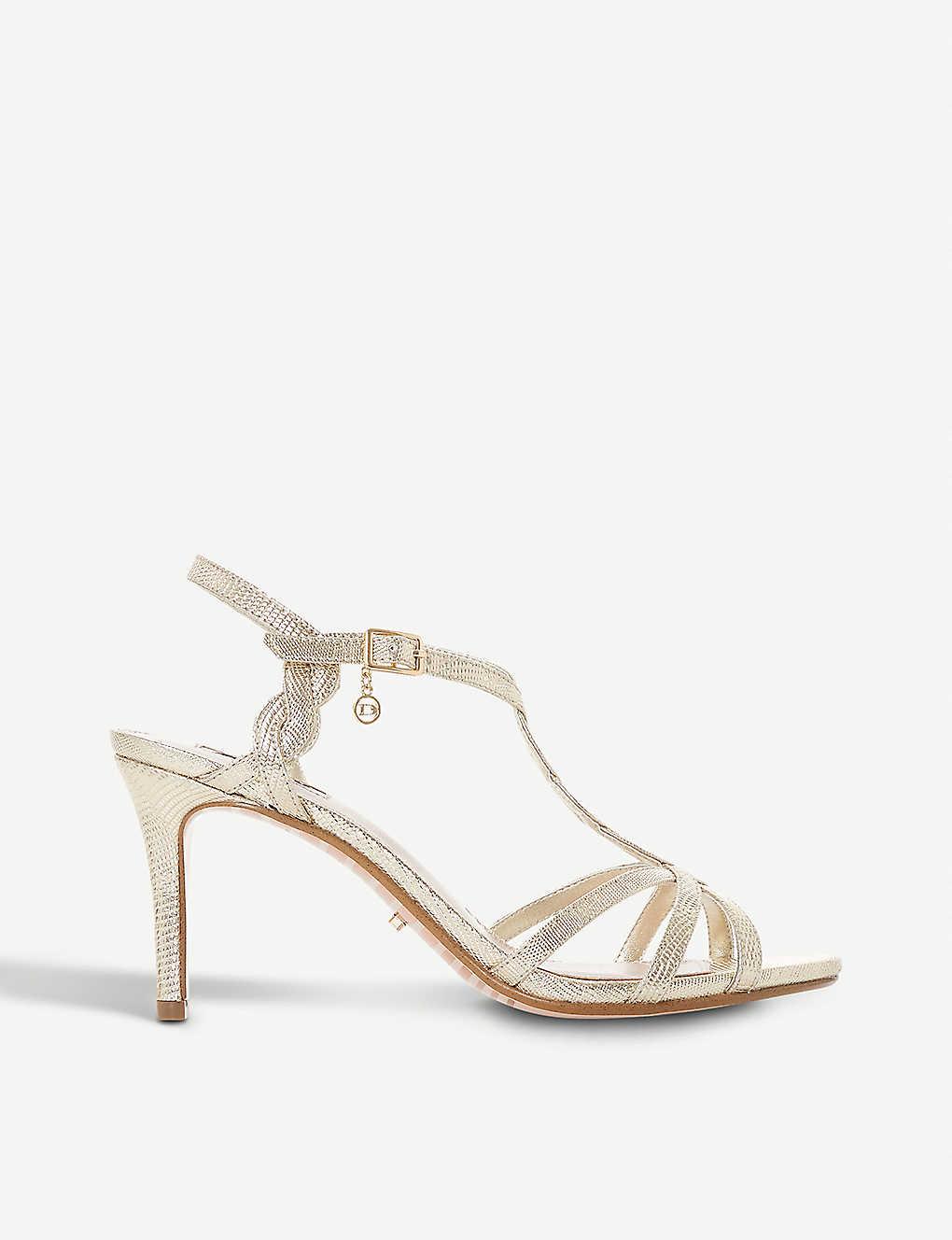 cfe209a82fb Mystick patent mid-heel sandals - Goldreptile synthetic ...