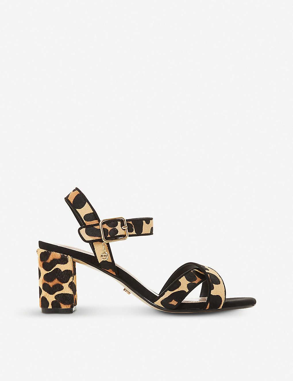 d755df07197ce Megz crossover leopard-print leather sandals - Leopardprint leather ...