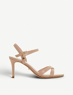 DUNE Marrietta snakeskin-effect stiletto sandal