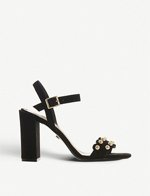 DUNE Myth 2 studded suede heeled sandals