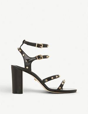 DUNE Model studded leather sandals