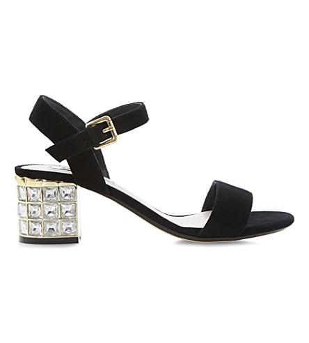 0aaa326edb7 DUNE Harah jewelled suede sandals (Black-suede