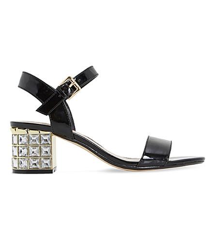 4817422ea4b ... DUNE Harah jewelled block heel sandals (Black-synthetic+patent.  PreviousNext