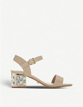 DUNE: Mesmerized metallic heeled sandals