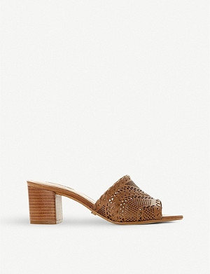 DUNE Marice leather heeled mules