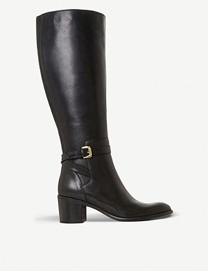 DUNE Temple heeled leather boots