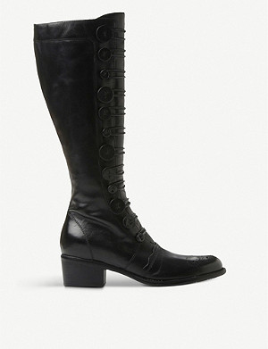 DUNE Pixie d leather knee-high boots