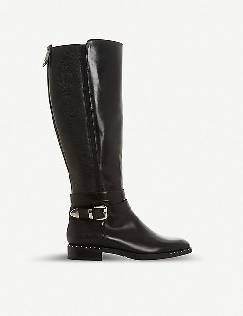 DUNE Trinitie studded leather riding boots 8471674ff0