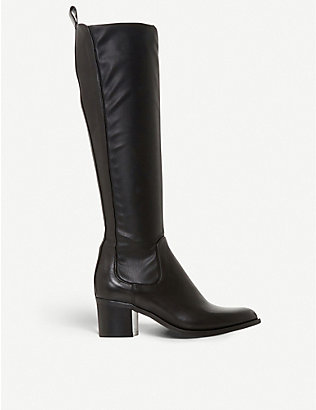 DUNE: Telling leather knee-high boots