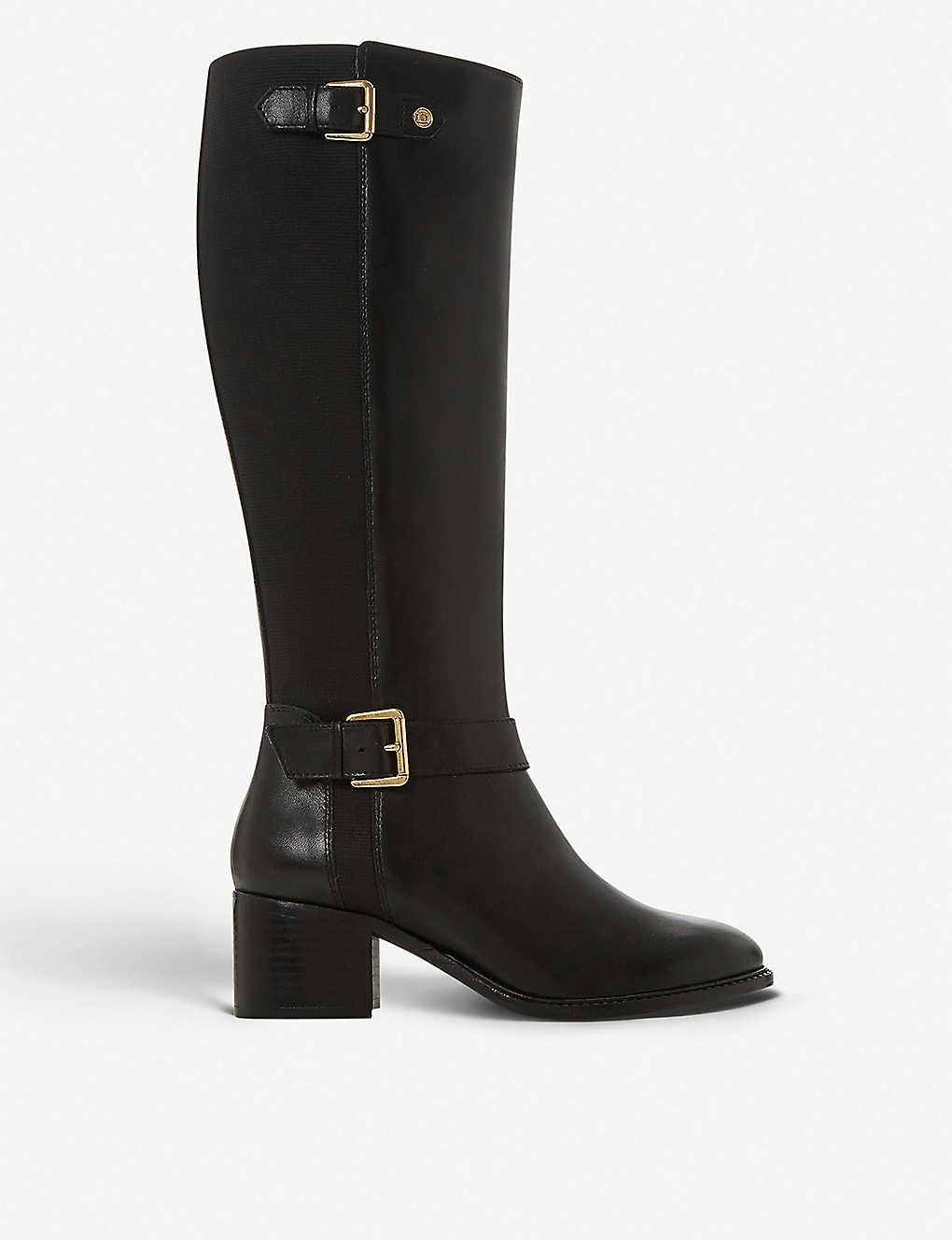 883d9054635 Tildaa block heel leather riding boots
