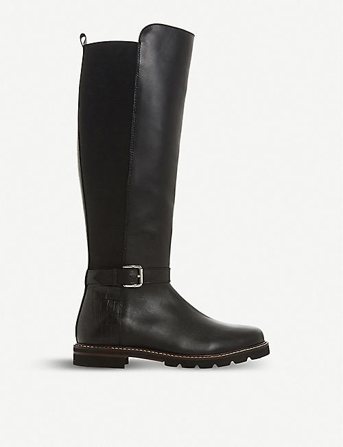 d63415acf130 DUNE Tamera buckled knee-high leather boots