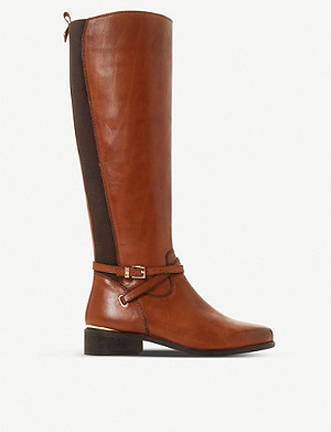 DUNE True double-strap leather knee-high boots