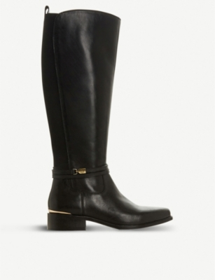 DUNE Traviss knee-length leather boots