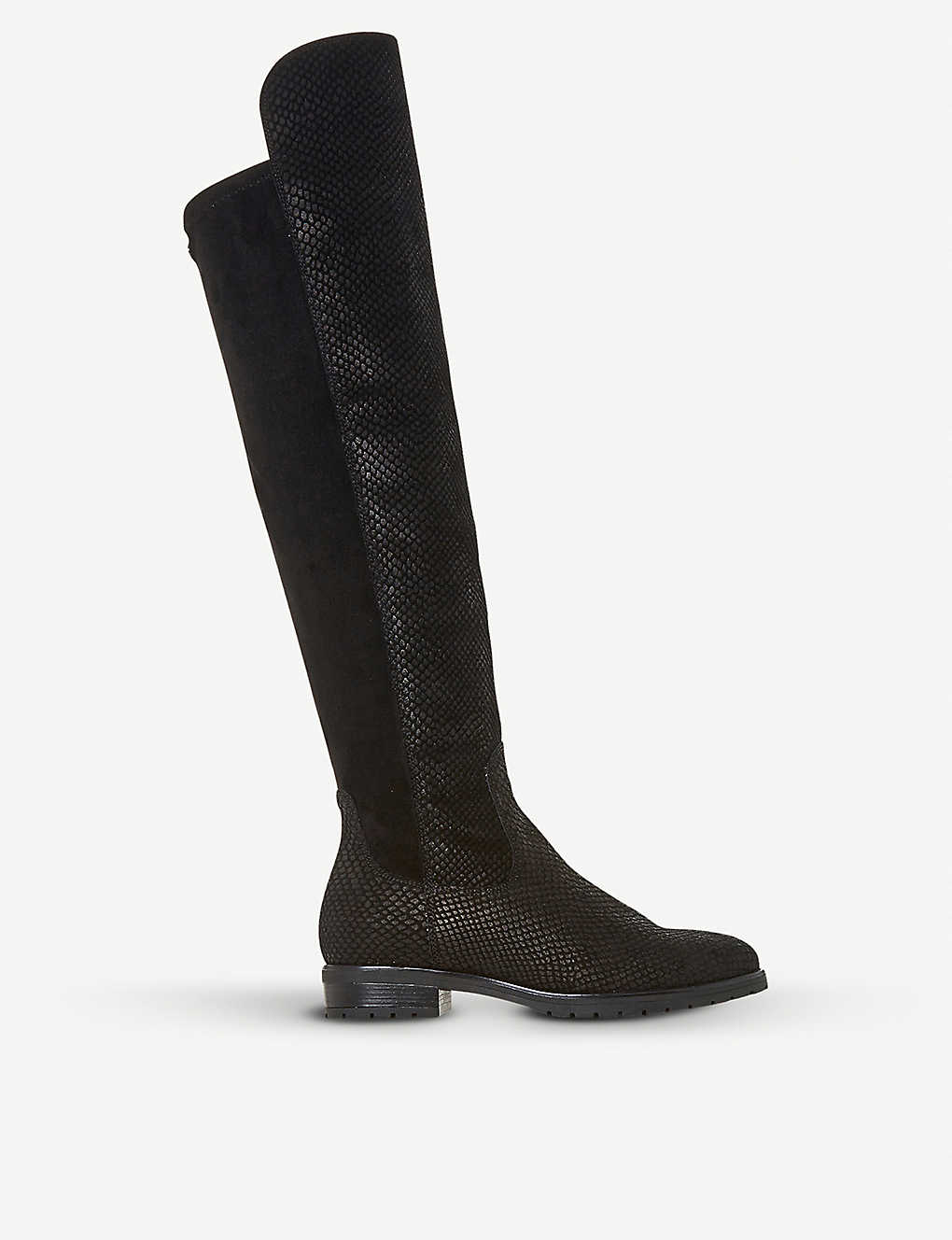 5e2e631a01e Tarrin stretch-panel over-the-knee boots - Blackembossed leather ...