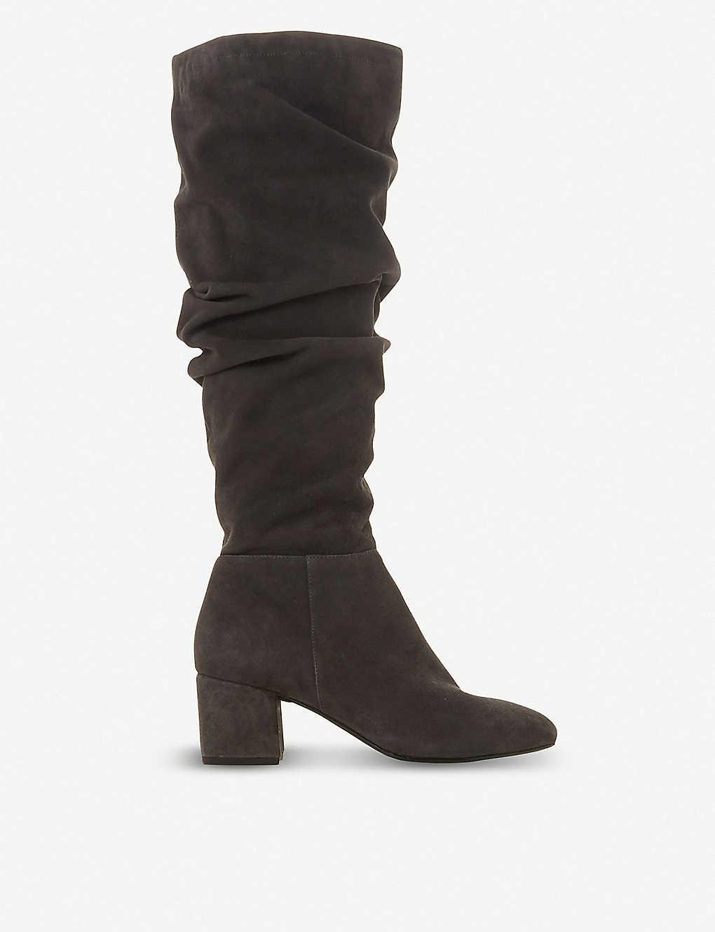 0a618f3b9f6c DUNE - Sarento ruched knee-high leather boots | Selfridges.com