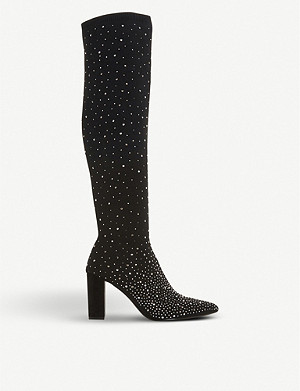 DUNE Starlight embellished over-the-knee boots