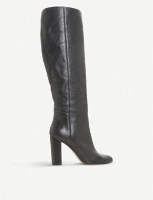 Simonne Leather Knee High Boots by Dune