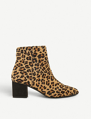 DUNE Olyvea leopard-print ankle boots