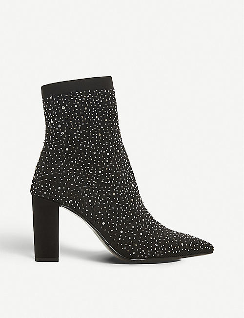a1227a00b42 DUNE Ozone diamante-embellished sock boots