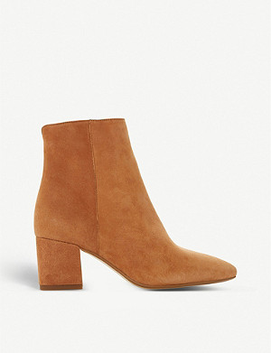 DUNE Omarii suede heeled ankle boots
