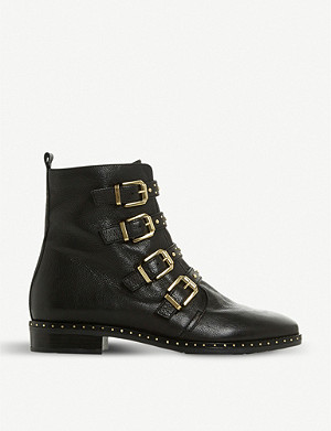 DUNE Pixxel leather studded ankle boots