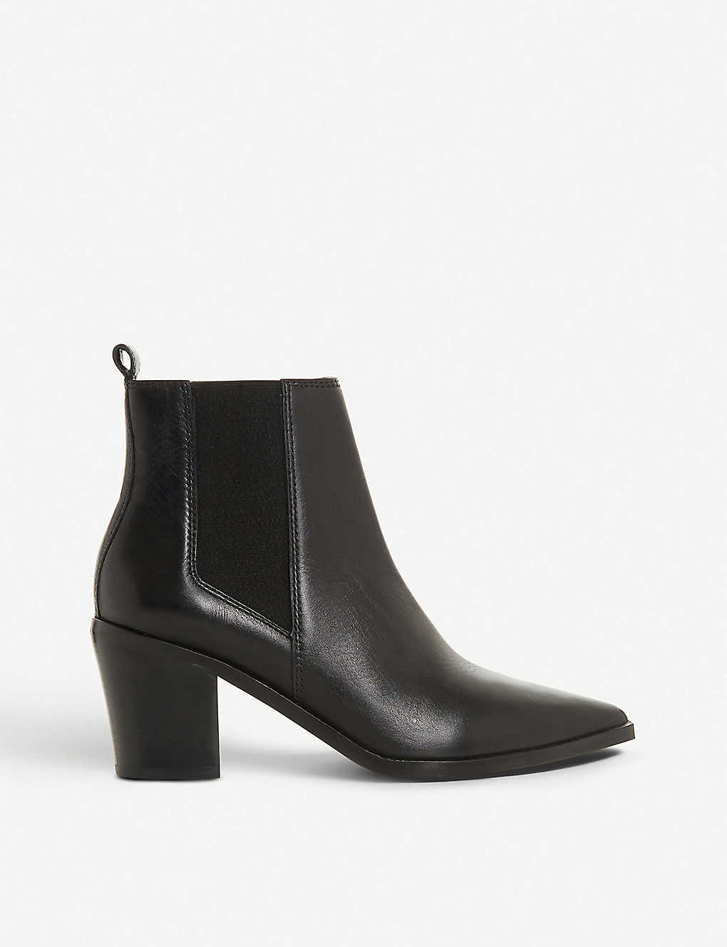 DUNE: Permit pointed-toe leather chelsea boots