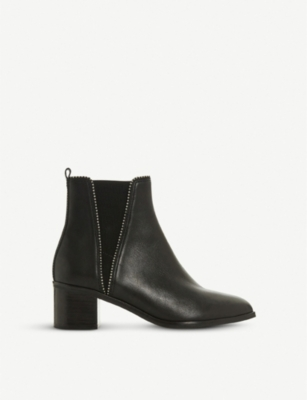 DUNE Portobello studded leather chelsea boots