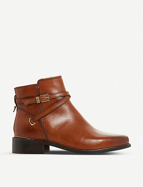 DUNE Peper block-heel leather ankle boots