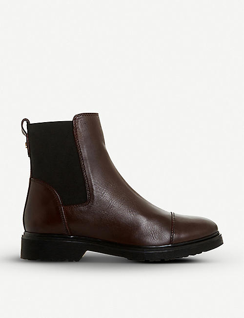 DUNE Paysan round-toe leather Chelsea boots