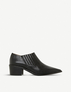 DUNE Paavo reptile-embossed leather ankle boots