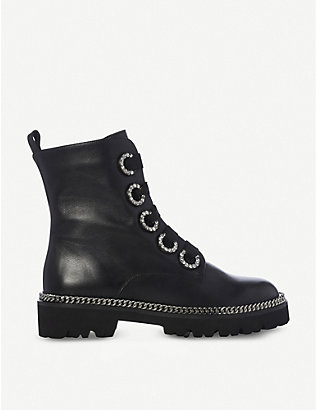 DUNE: Pavvillion chain welt leather biker boots