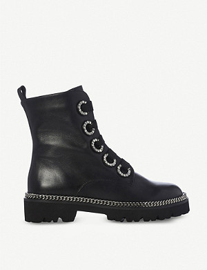 DUNE Pavvillion chain welt leather biker boots