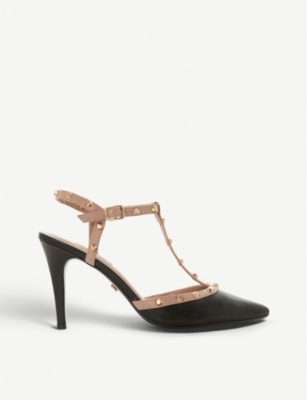 DUNE Catelyn studded leather courts