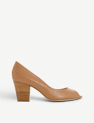 DUNE Cathy peep-toe leather courts