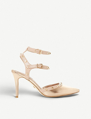 DUNE Claret faux-leather sandals