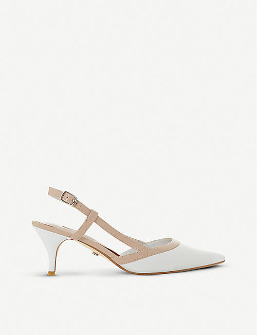 6976fc9a3175 DUNE Corraly leather slingback heels