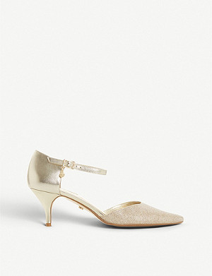 DUNE Celleste metalli leather court shoes