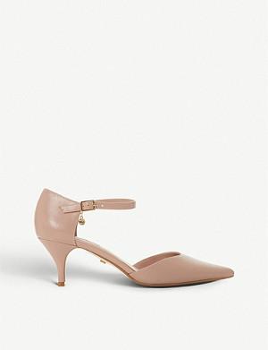 56c0e27d717 DUNE · Celleste leather court shoes · DUNE Andrie leather kitten heel ...