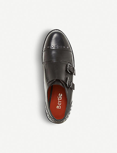 BERTIE Gini studded leather double monk shoes