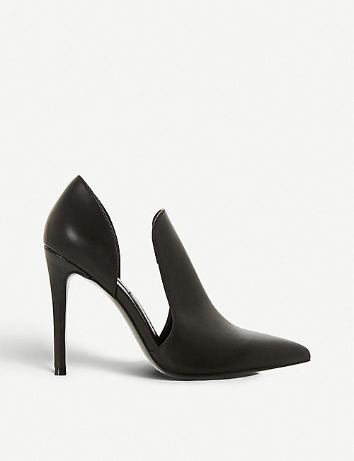 eec869b33dd STEVE MADDEN Dance SM cutout-side faux-leather court shoes