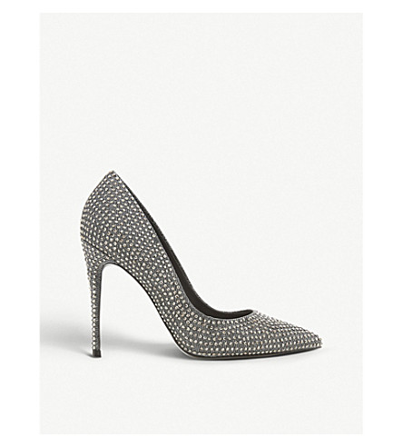 8819cfa91b8 STEVE MADDEN Daisie-R Sm crystal-embellished court shoes (Pewter-metallic+
