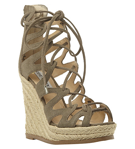 6fe9d5dc169 STEVE MADDEN - Ghille lace-up wedge sandals