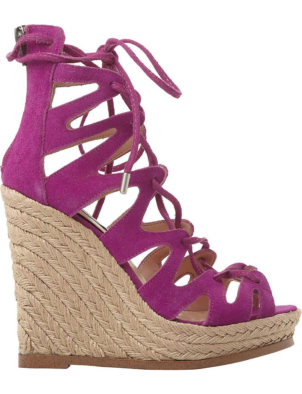 44bf054ffe STEVE MADDEN - Ghille lace-up wedge sandals   Selfridges.com