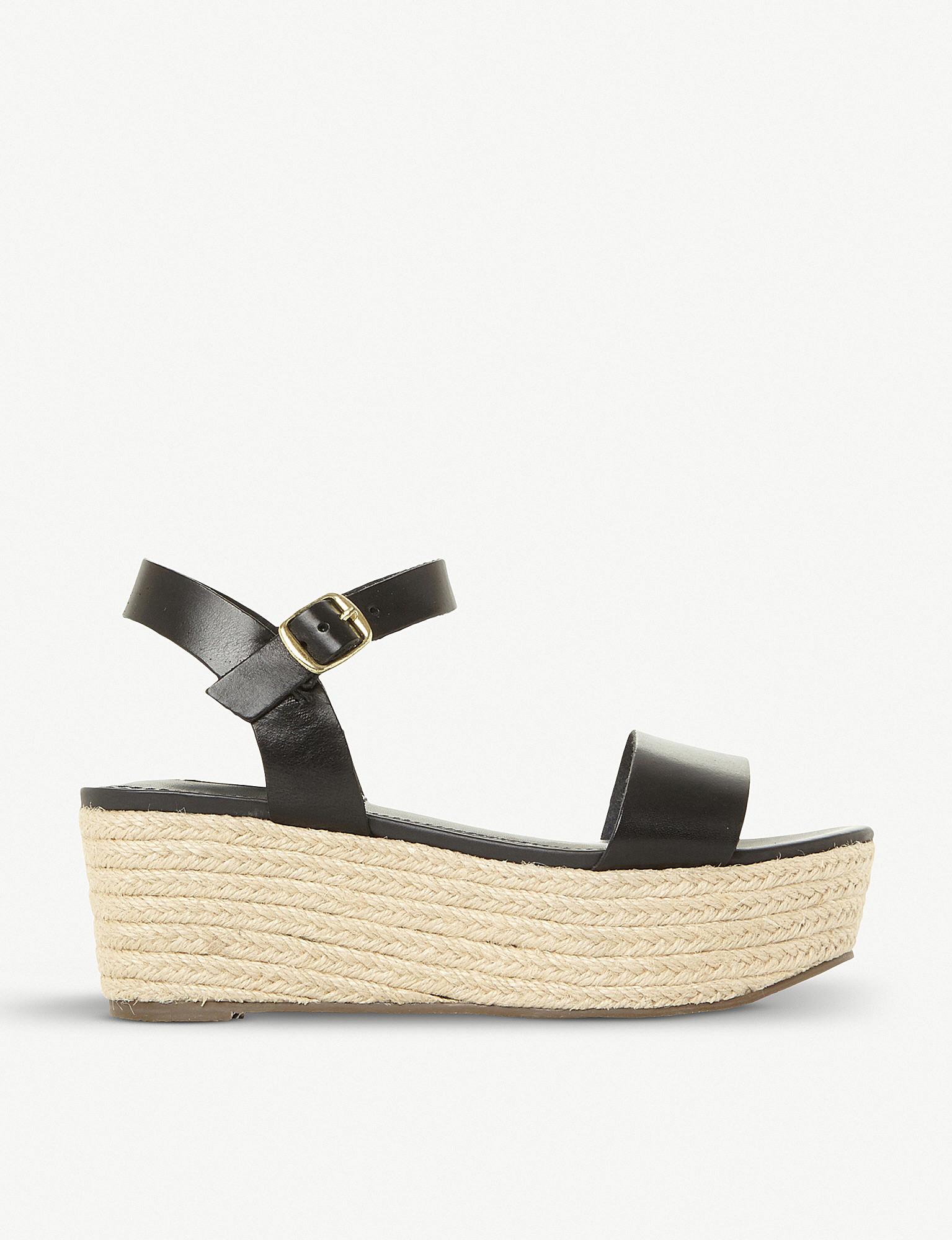 8ee57386645 STEVE MADDEN - Busy SM leather and jute platform sandals ...